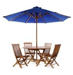 Patio Table Umbrellas Sale All Things Cedar Java Teak 6 Pc Folding Table Set