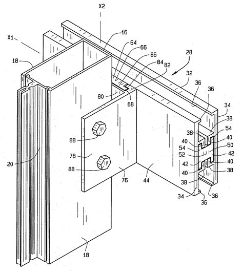 transom curtain wall patent us20040079038 curtain wall anchor google patenten