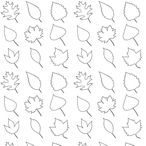 printable fall leaf patterns free printable leaves coloring pattern paper