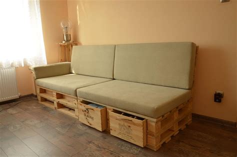 Diy Storage Sofa by Diy Pallet Sofa With Storage Home Design Garden