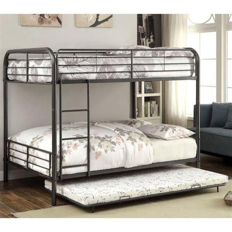 shop furniture  america linden ii  piece full  full metal bunk bed  trundle set