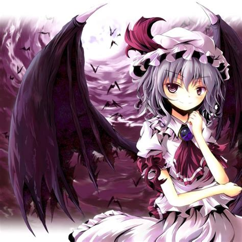 anime demon girl with short hair anime picture touhou remilia scarlet tamago gohan artist