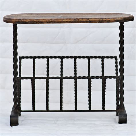 wrought iron side table wrought iron magazine rack side table ebay