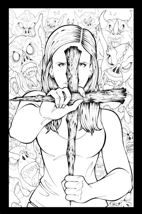 coloring pages buffy the vire slayer 100 best tv coloring images on pinterest harley quinn