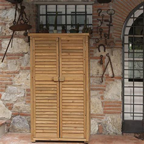 armadi in legno da esterno armadio in legno da esterno 82x42x160 solido jarsya