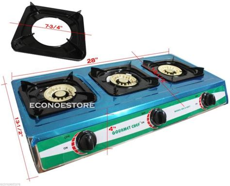 propane gas cooktop stainless burner stove outdoor range grill portable
