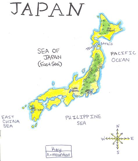 physical map of japan image gallery japanese physical map