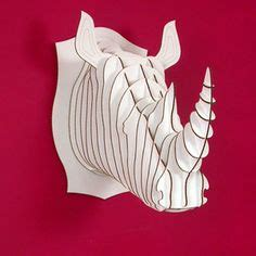 How To Make A Rhino Out Of Paper - 1000 images about cardboard cutouts on safari