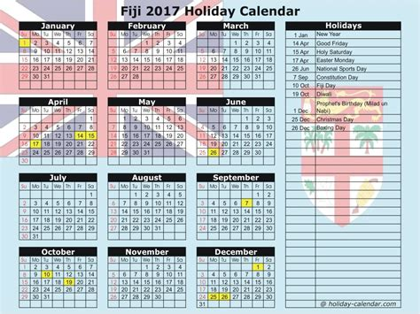 fiji 2017 2018 calendar
