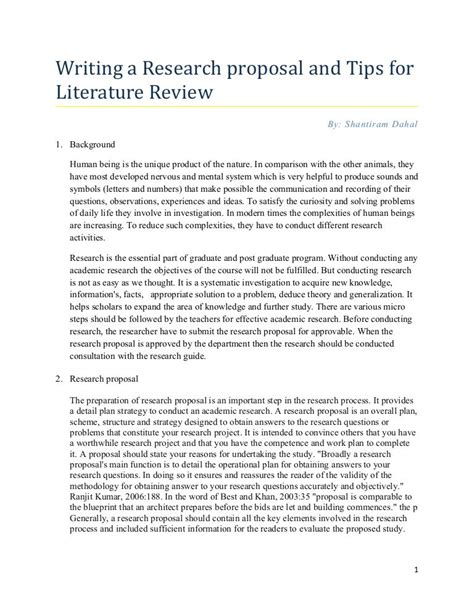 writing thesis and dissertation proposals research tips for writing literature review by