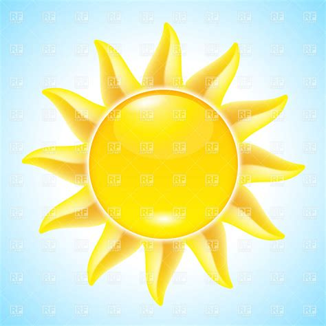 summer sun clip art hot summer sun icon royalty free vector clip art image
