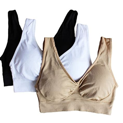 No Pads Genie Bra Yp genie bra with removable pads s two sports fitness vest 3pcs set in sports