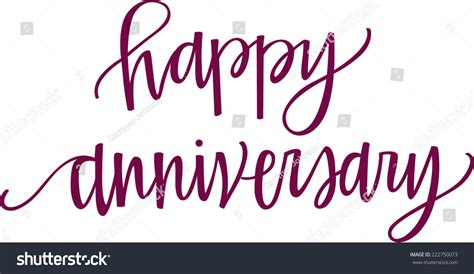 Wedding Anniversary Font by Handlettered Happy Anniversary Stock Vector 222750073