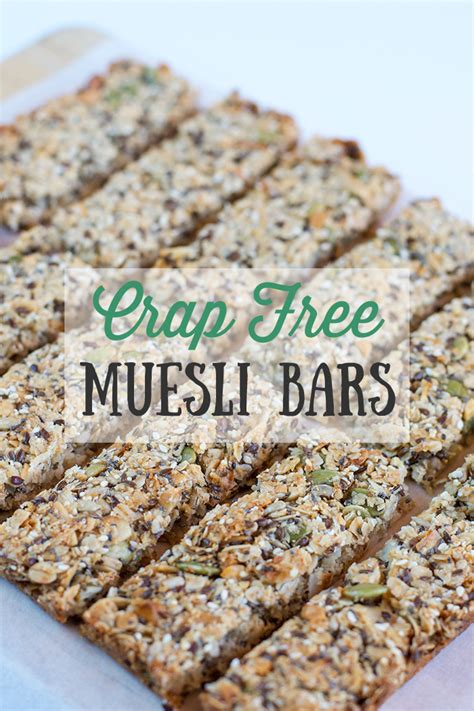 Muesli Free crap free muesli bars swah