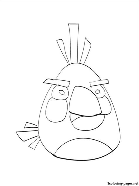 angry birds white bird coloring pages