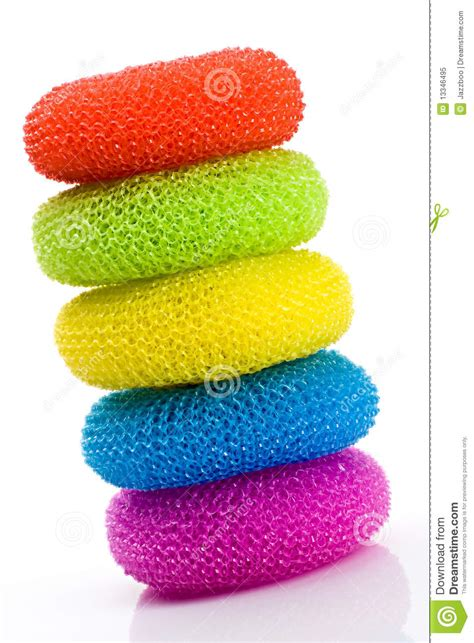 Colorful Pot Scrubbers Royalty Free Stock Photo   Image