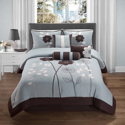 brown blue comforter sets buy blue and brown comforters from bed bath beyond