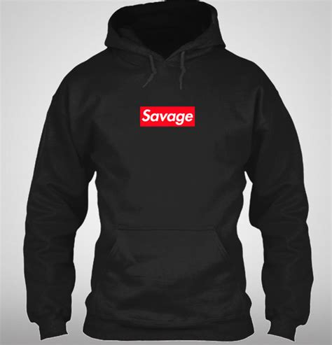 supreme hoodie uk supreme savage box logo inspired hoodie 21 savage ebay