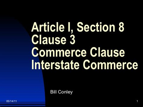Article 1 Section 8 Clause 3 Of The Us Constitution by Commerce Clause