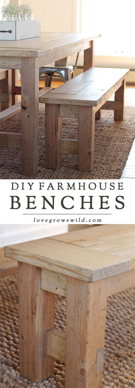 diy farmhouse table and bench plans 25 best ideas about build a bench on benches