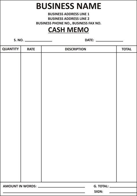 Memo Book Template Memo And Invoise Web Sarfas