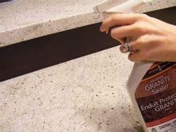 how to seal granite countertops bathroom and kitchen