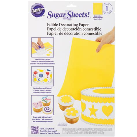 How To Make Sugar Sheets Edible Decorating Paper - wilton solid color sugar sheets edible decorating paper