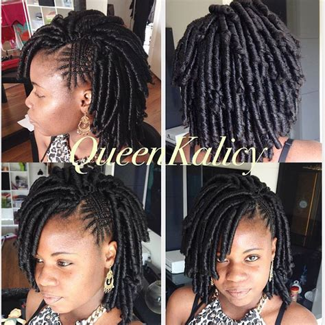 temporary dread urban hairstyle crochet braids urban soft dread feed in braids purple