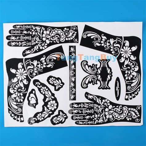 tattoo henna sticker henna hand tattoo stickers makedes com