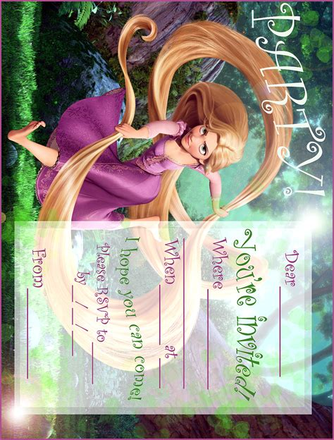 free printable rapunzel party decorations disney coloring pages
