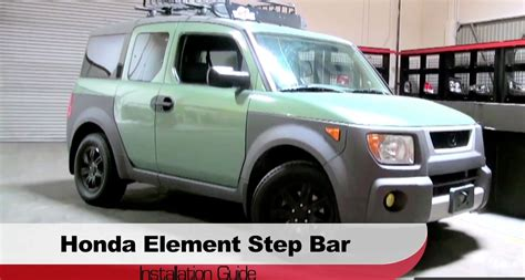 honda element side steps spyder auto installation 2003 2010 honda element step