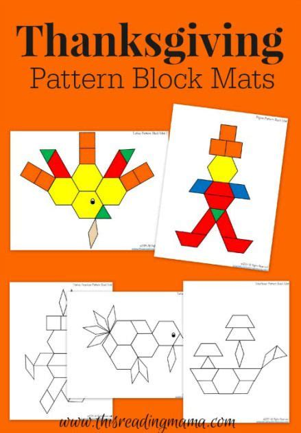 pilgrim pattern kindergarten thanksgiving mats for pattern blocks pattern blocks