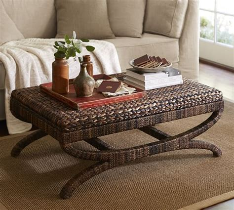 Seagrass Coffee Table Ottoman Pottery Barn Seagrass Coffee Table