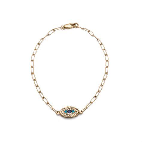 evil eye bracelet with diamonds