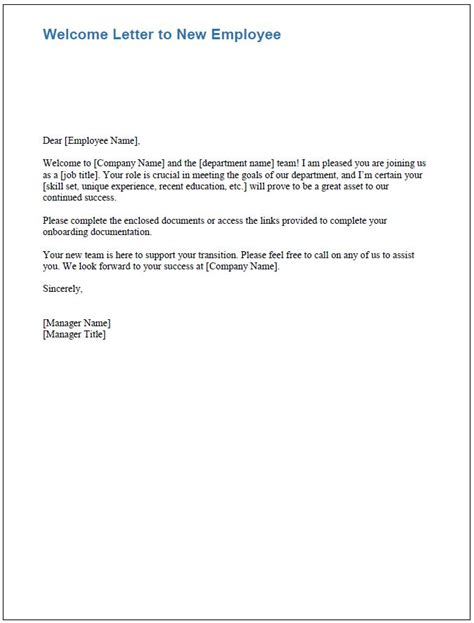 Employment Welcome Letter free onboarding checklists and templates smartsheet