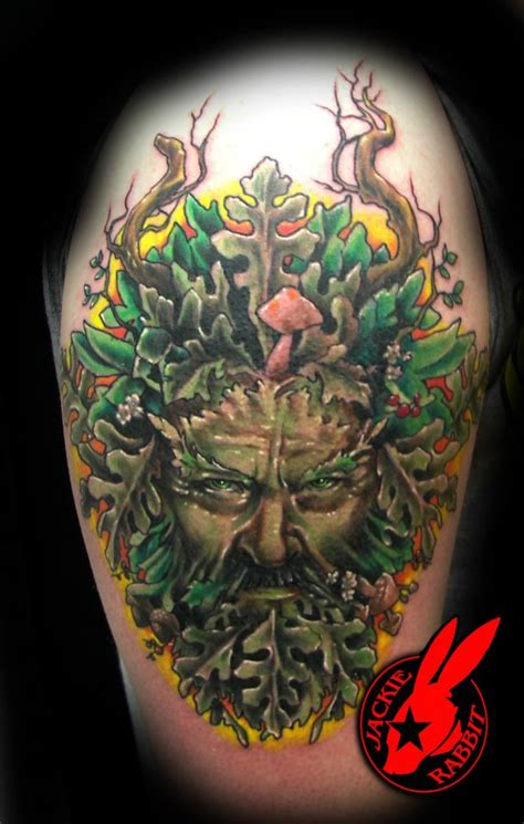 green man tattoo designs green by jackie rabbit by jackierabbit12 on