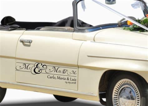 Kleine Aufkleber Hochzeit by Autoaufkleber Hochzeit Mister And Misses Und Kleiner Mr