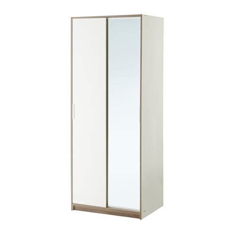 Ikea Wardrobes With Mirror by Trysil Wardrobe White Mirror Glass 79x61x202 Cm Ikea