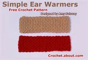 Wide crochet ear warmer style headband