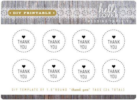 thank you favor tags template items similar to instant diy printable thank