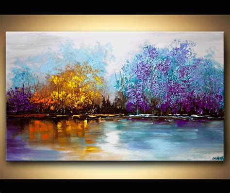 Landscape Paintings Modern Landscape Tree Painting Original Abstract Contemporary Modern