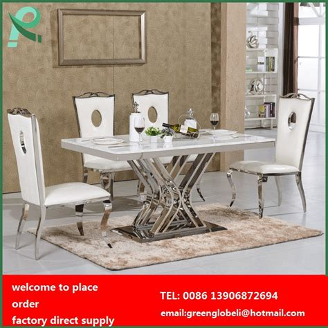 marble top dining table set stainless steel dining table and chairs dining room table