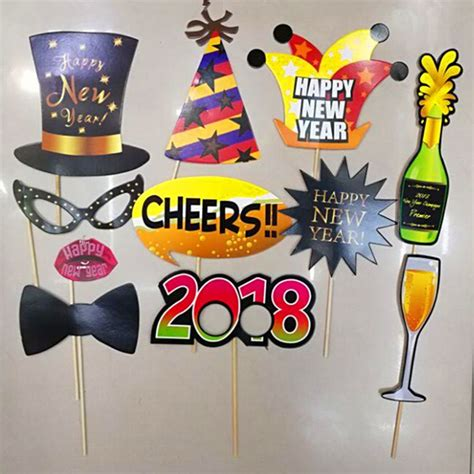 new year decorations to buy aliexpress buy happy new year 2018 photo booth props