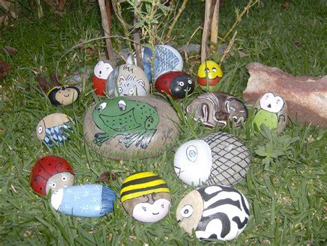 decoração de jardim pedras pintadas a arte da letty pedras pintadas