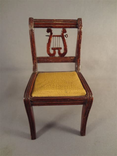 doll house scale large doll house scale lyre back chair for music room from