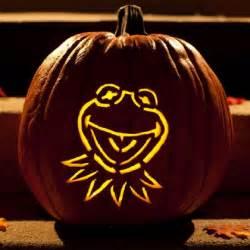 Disney Halloween Pumpkin Carving Patterns - kermit the frog pumpkin carving template disney family
