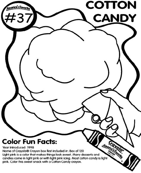 cotton candy coloring page crayolacom