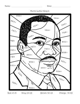 Martin Luther King Jr Math Worksheets by Martin Luther King Jr Math Multiplication By Miss Andres