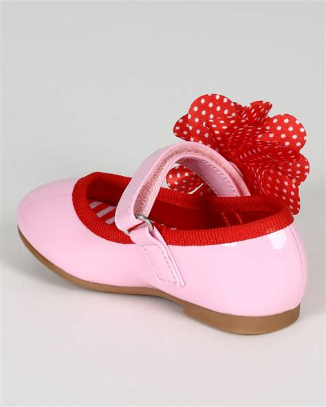 Flat Shoes Pink Bunga Flowers Jelly Flat Shoes Fse022 shoe style jelly beans ca18 patent leatherette polka dot