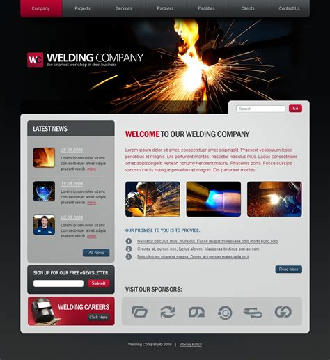 welding website template 26085